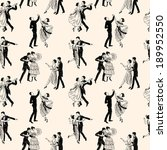 Stock vector pattern of the vintage dancing couples 189952550