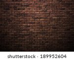Dimly Lit Old Brick Wall