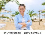 Smiling Happy Mature Woman With ...