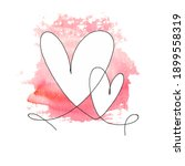 hand drawn two hearts with... | Shutterstock .eps vector #1899558319