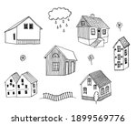 Collection Of Hand Drawn Houses ...