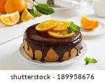 Orange Cake With Chocolate And...
