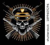 police skull illustration... | Shutterstock .eps vector #1899605296