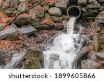 A Torrent Of Water Gushing From ...