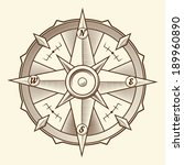 vintage graphic compass... | Shutterstock .eps vector #189960890