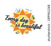 positive illustration with sun... | Shutterstock .eps vector #189961268