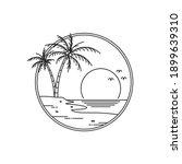 logo design sunset on tropical... | Shutterstock .eps vector #1899639310