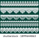 indian henna border decoration... | Shutterstock .eps vector #1899644863