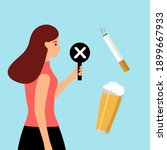 stop smoking and drinking... | Shutterstock .eps vector #1899667933