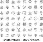 thin outline vector icon set... | Shutterstock .eps vector #1899705826