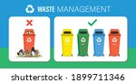 waste management  horizontal... | Shutterstock .eps vector #1899711346