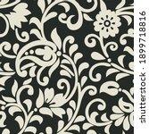 asian seamless vector paisley... | Shutterstock .eps vector #1899718816