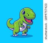 cute dino smiling cartoon... | Shutterstock .eps vector #1899757423