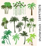 collection of palm trees | Shutterstock .eps vector #189975878