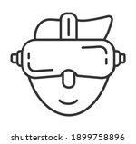 virtual reality icon vector....