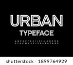 vector urban typeface. white... | Shutterstock .eps vector #1899764929