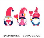 valentine's cute gnomes holding ... | Shutterstock . vector #1899772723