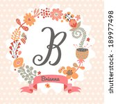 personalized monogram in... | Shutterstock .eps vector #189977498