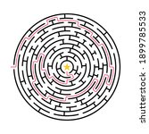 labyrinth game. circle maze... | Shutterstock .eps vector #1899785533