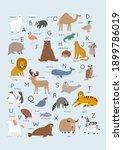 Cute Wild Animals Alphabet  ...