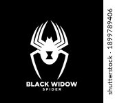 black widow dark spider logo... | Shutterstock .eps vector #1899789406