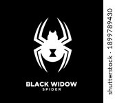 black widow dark spider logo... | Shutterstock .eps vector #1899789430