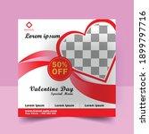 valentine's day sale web banner ... | Shutterstock .eps vector #1899797716