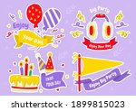 party label vector logo for... | Shutterstock .eps vector #1899815023