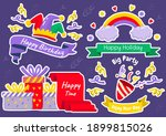 party label vector logo for... | Shutterstock .eps vector #1899815026