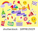 party label vector logo for... | Shutterstock .eps vector #1899815029