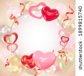 valentines day background with...   Shutterstock .eps vector #1899815740