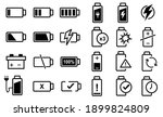 24 set of battery icon vector ...   Shutterstock .eps vector #1899824809