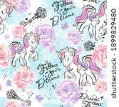 art. little unicorn.... | Shutterstock .eps vector #1899829480