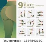 intermediate level   glute... | Shutterstock .eps vector #1899843190
