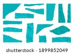 set of blue torn ripped paper... | Shutterstock . vector #1899852049