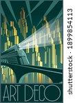 art deco style poster retro... | Shutterstock .eps vector #1899854113