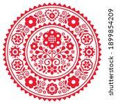folk art vector mandala design... | Shutterstock .eps vector #1899854209