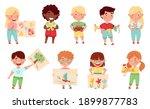 kids artist showing their...   Shutterstock .eps vector #1899877783