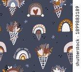 boho style seamless pattern... | Shutterstock .eps vector #1899883189