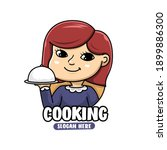 mascot character of woman chef  ... | Shutterstock .eps vector #1899886300