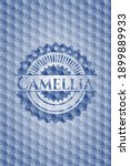 camellia blue badge with... | Shutterstock .eps vector #1899889933