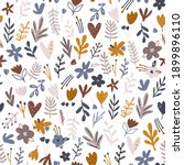 seamless floral pattern with... | Shutterstock .eps vector #1899896110