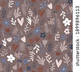 seamless floral pattern with... | Shutterstock .eps vector #1899896113