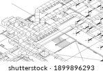 architectural bim air duct... | Shutterstock .eps vector #1899896293