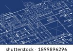 architectural bim ventilation... | Shutterstock .eps vector #1899896296