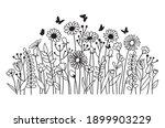 Illustration Of  Field Flowers. ...