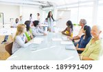 young business woman presenting    Shutterstock . vector #189991409