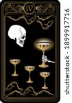 four of cups. card of minor... | Shutterstock .eps vector #1899917716