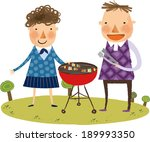 the view of couple roasted the... | Shutterstock .eps vector #189993350