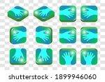 3d isometric set of square... | Shutterstock .eps vector #1899946060